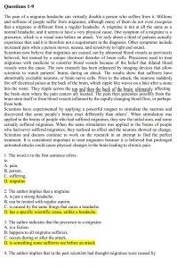 سوالات ریدینگ عین آزمون MSRT